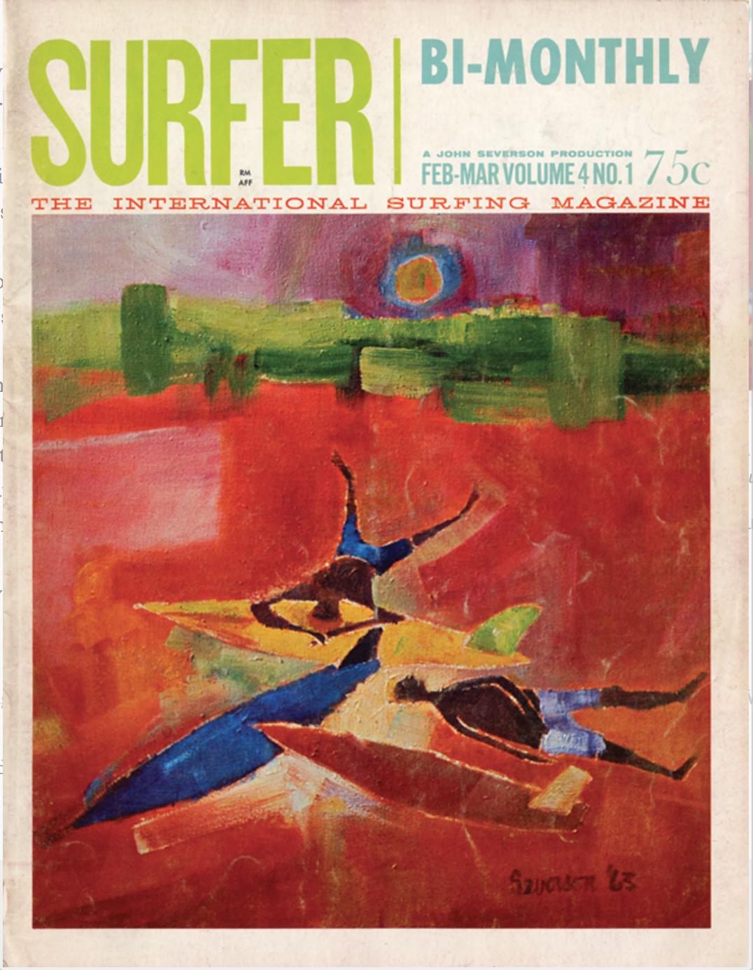 Surfer Magazine February 1963 Cover by John Severson