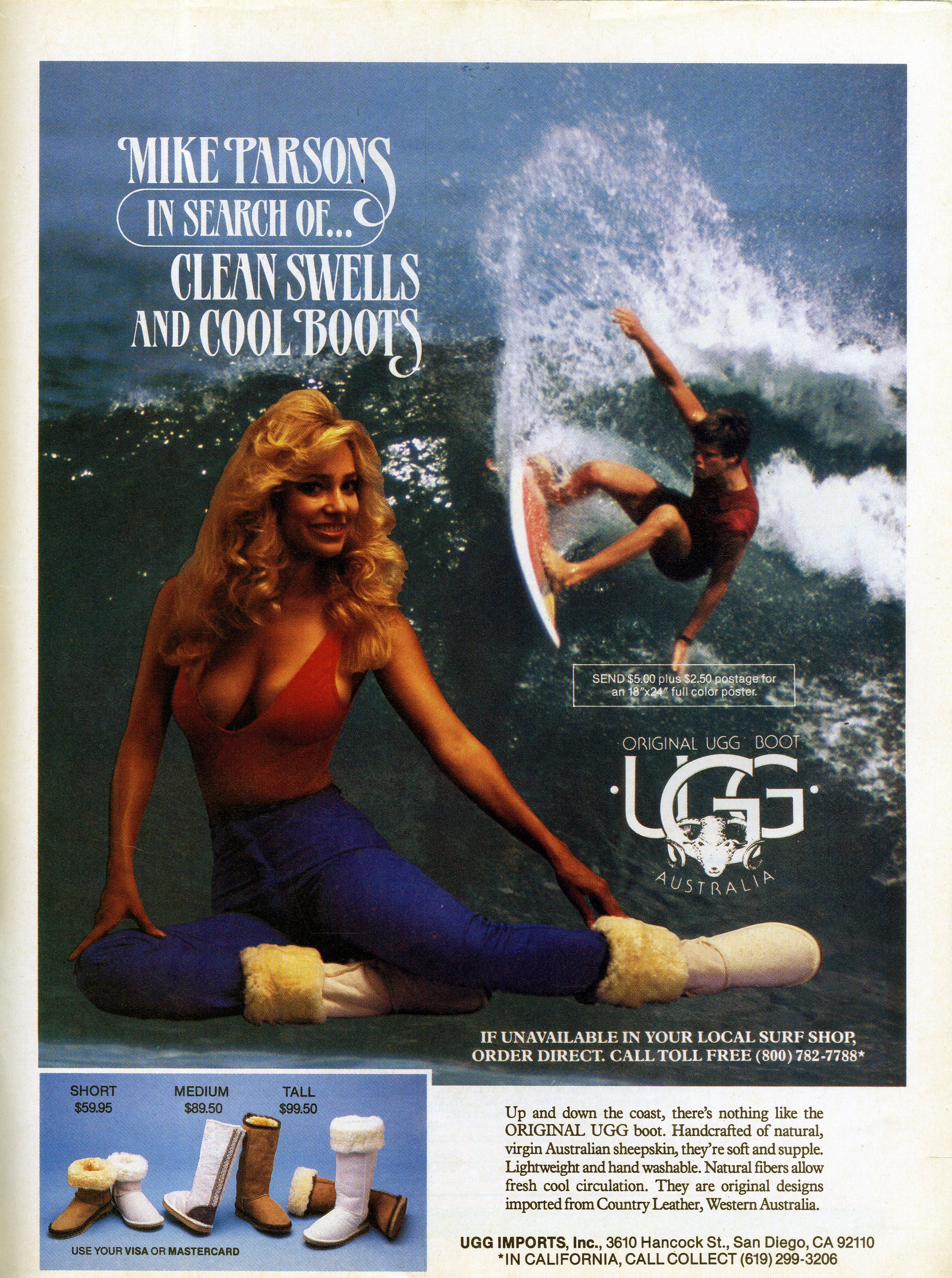 Vintage Ugg Australia Ad With Mike Parsons Sagas Of Shred