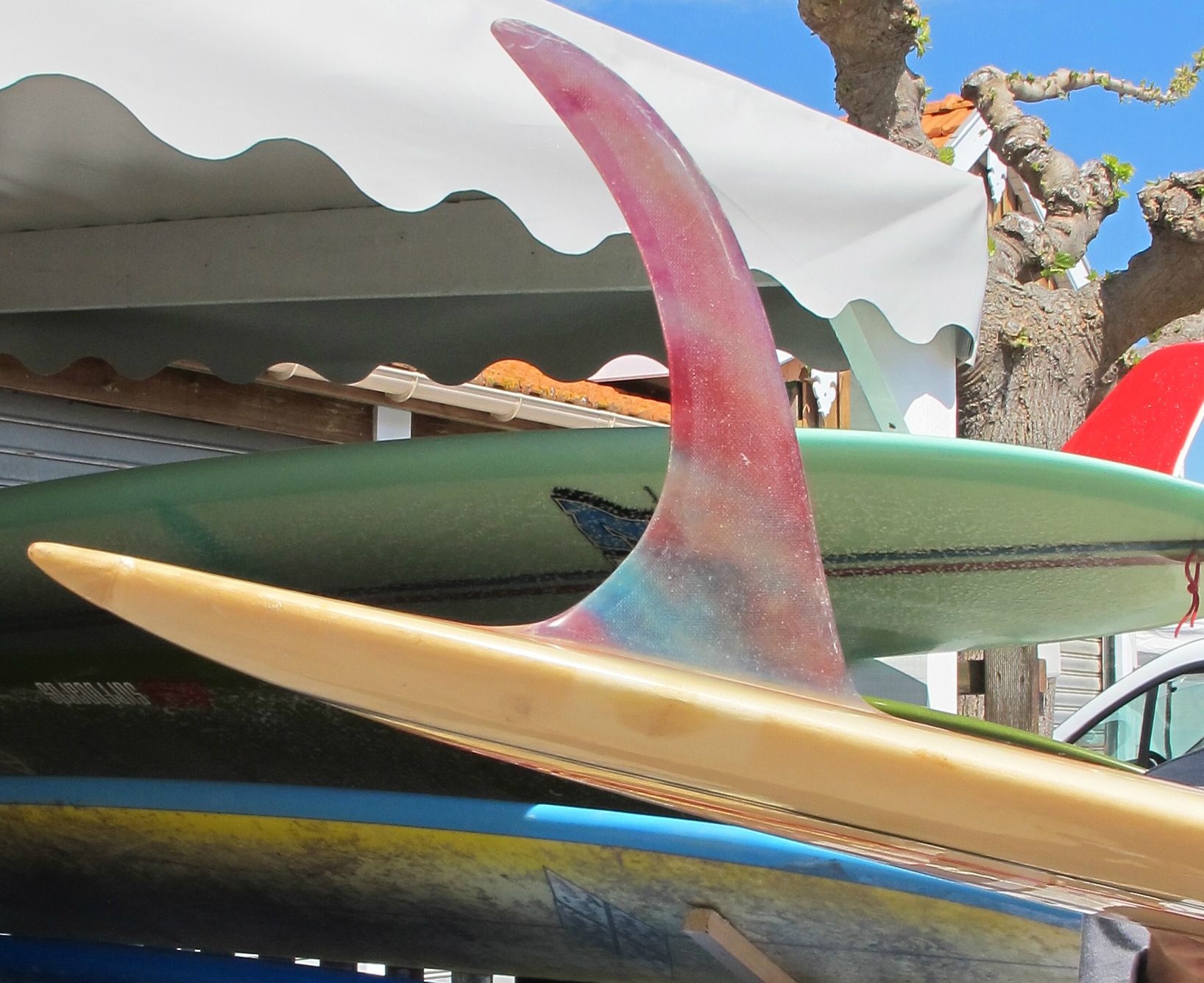 Rick Surfboards Barry Kanaiaupuni Model Pintail Glass On Fin