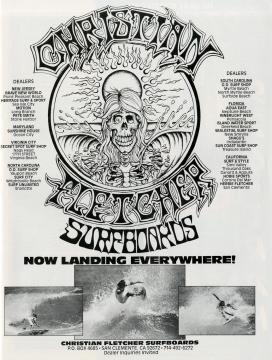 Christian Fletcher Surfboards Ad