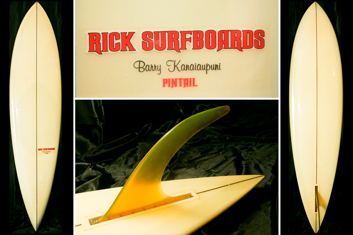 Rick Surfboards Barry Kanaiaupuni Model Pintail via Surfboardline