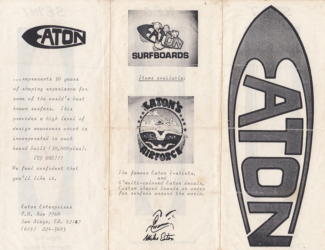 Mike Eaton Surfboards Brochure 1