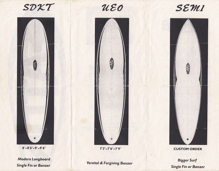 Mike Eaton Surfboards Brochure 2