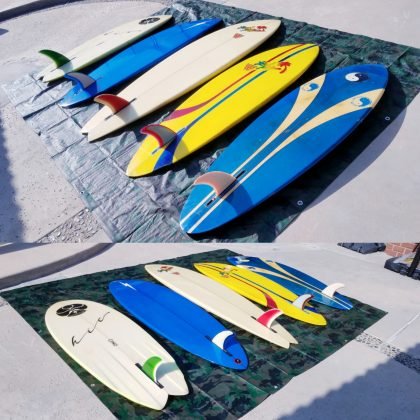 Vintage Hawaiian Single Fin Surfboards