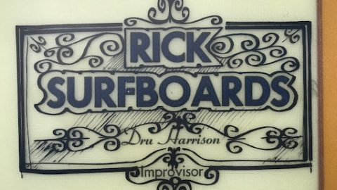 Rick Surfboards Dru Harrison Improvisor Logo