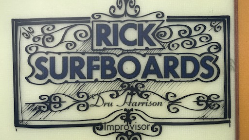 Rick Surfboards Dru Harrison Improvisor Logo